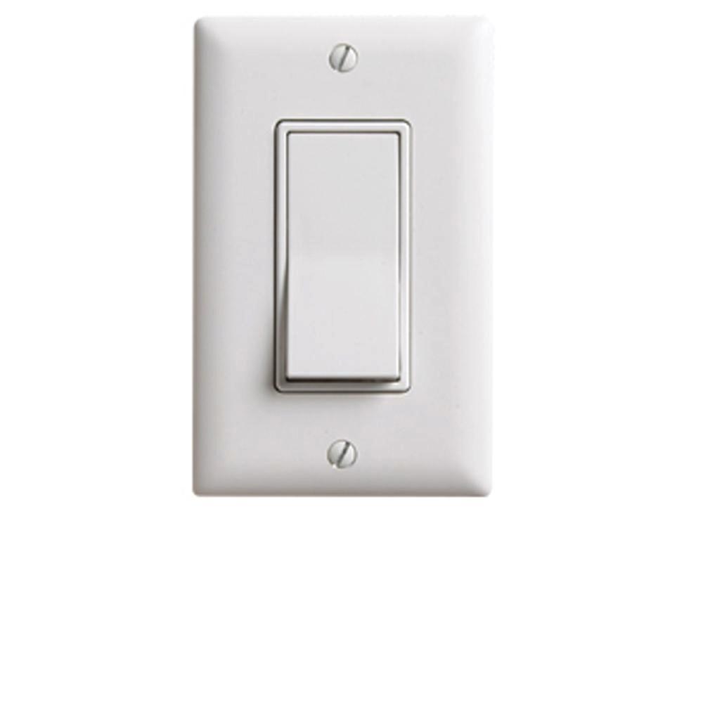 Decorator Specialty Single Pole Momentary Switch - White-RH253W ...