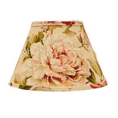 Multicolored cottage lamp shades lamps the home depot multi colored lamp shade aloadofball Gallery