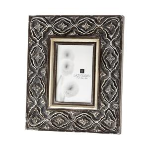 Ornate 1-Opening 4 inch x 6 inch Hand Carved Composite Picture Frame by