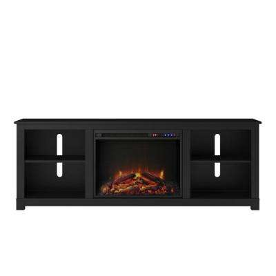 Domingo Black 60 in. TV Console with Fireplace