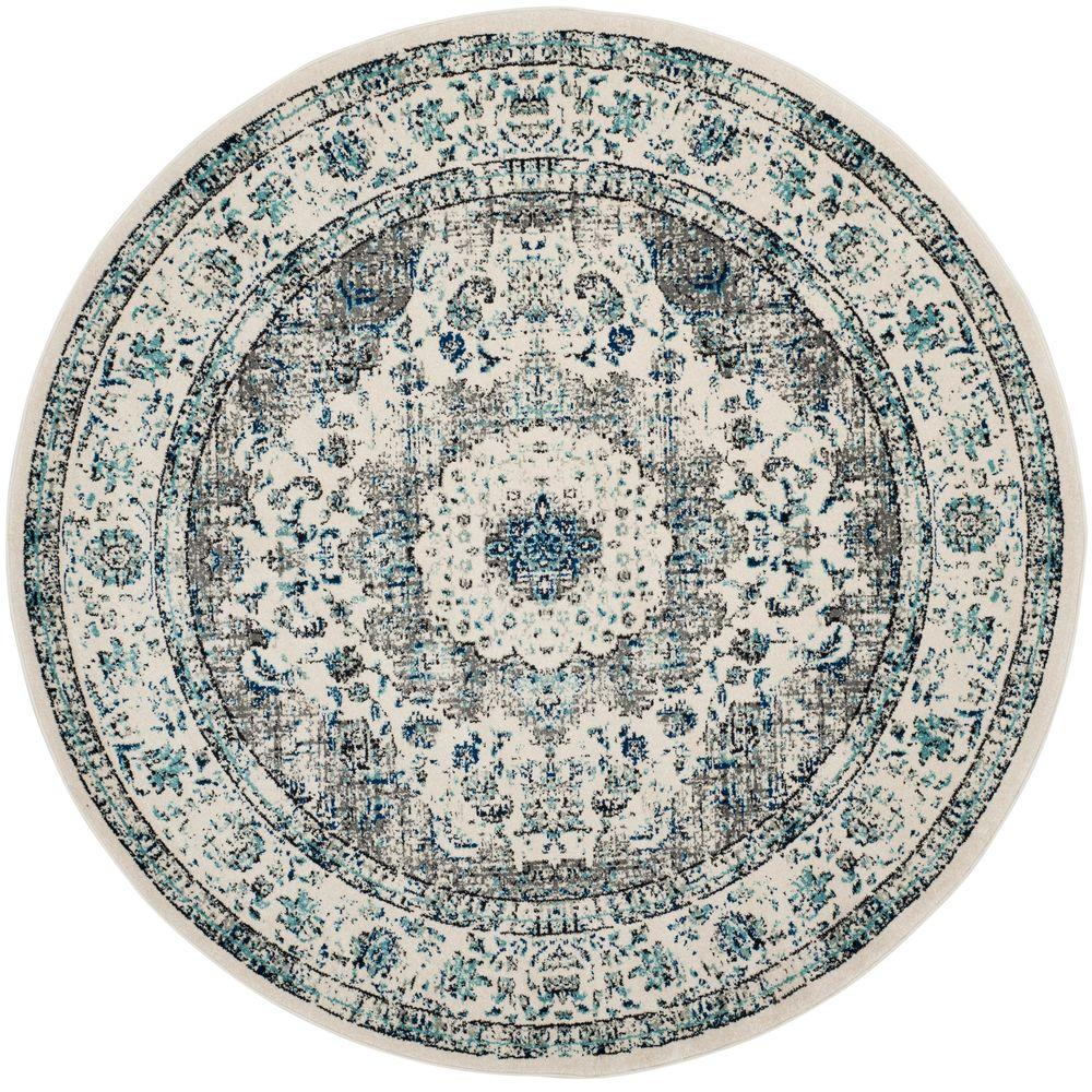 Safavieh Evoke Gray Ivory 7 Ft X Round Area Rug