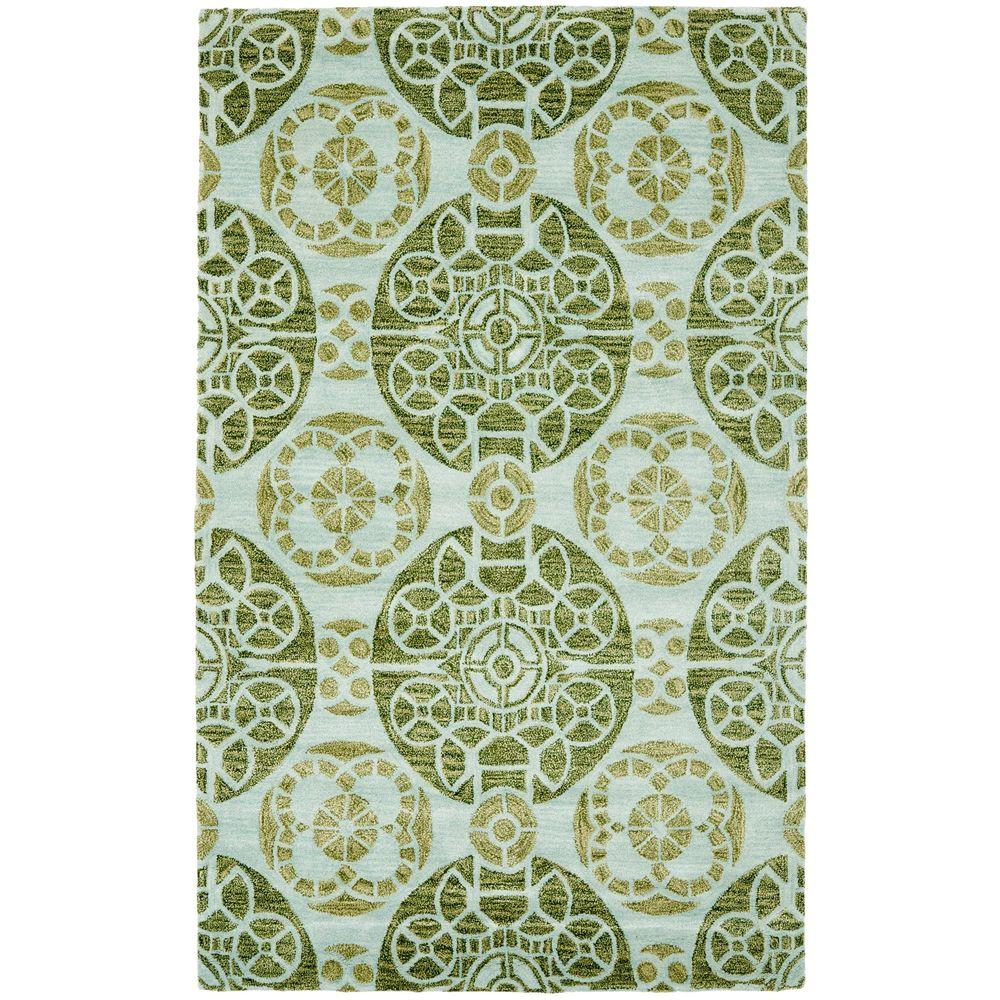 Safavieh Wyndham Turquoise/Green 4 ft. x 6 ft. Area Rug