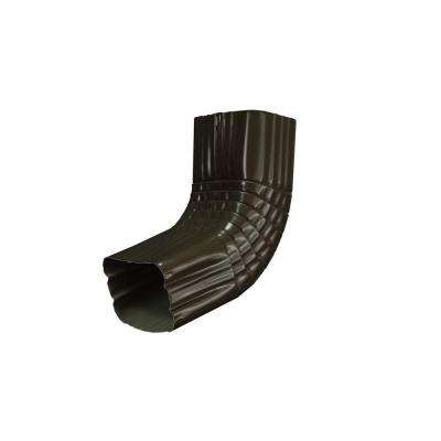 2 in. x 3 in. Dark Bronze Aluminum Downspout A Elbow