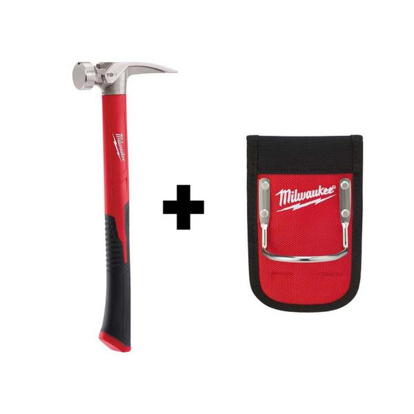 19 oz. Smooth Face Poly/Fiberglass Handle Hammer with Hammer Loop