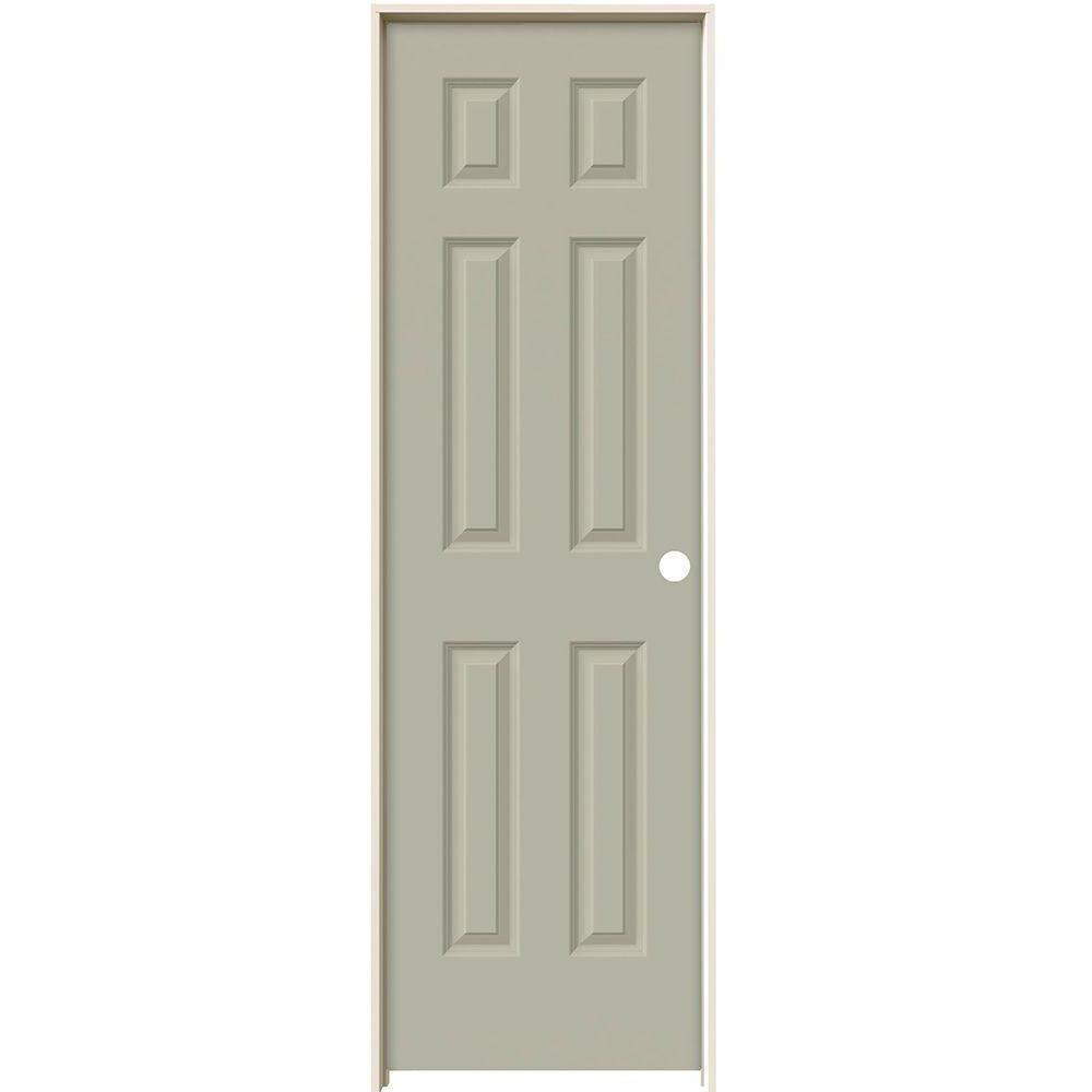 Jeld Wen 24 In X 80 In Colonist Desert Sand Left Hand Smooth Solid Core Molded Composite Mdf