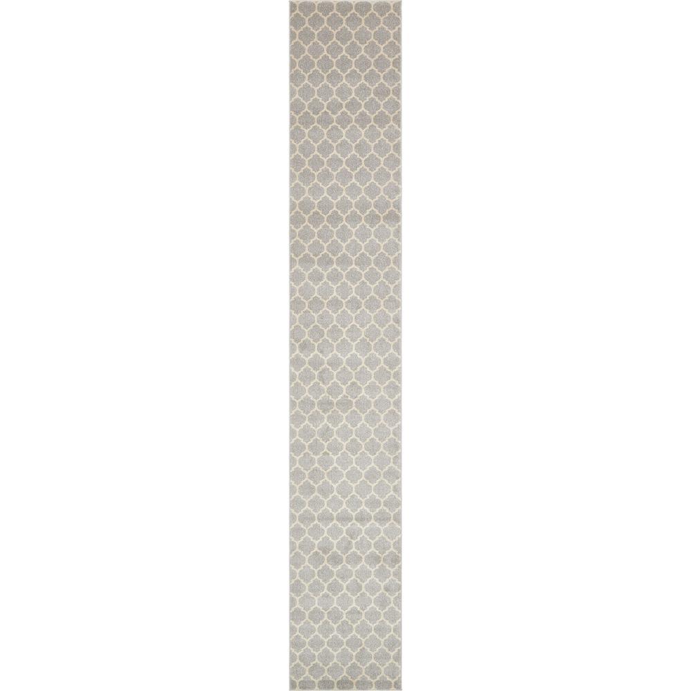 Trellis Philadelphia Light Gray/Beige 2' 7 x 16' 5 Runner Rug