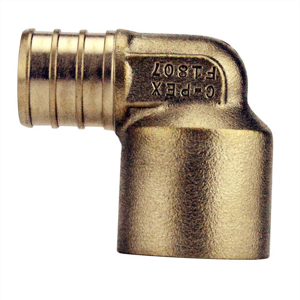 3/4 in. Brass PEX x Female Solder 90-Degree Elbow