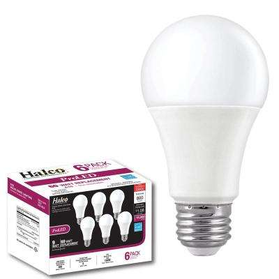 60-Watt Equivalent Contractor Pack 9-Watt A19 Non-Dimmable LED 2700K Light Bulb Warm White (6-Pack)