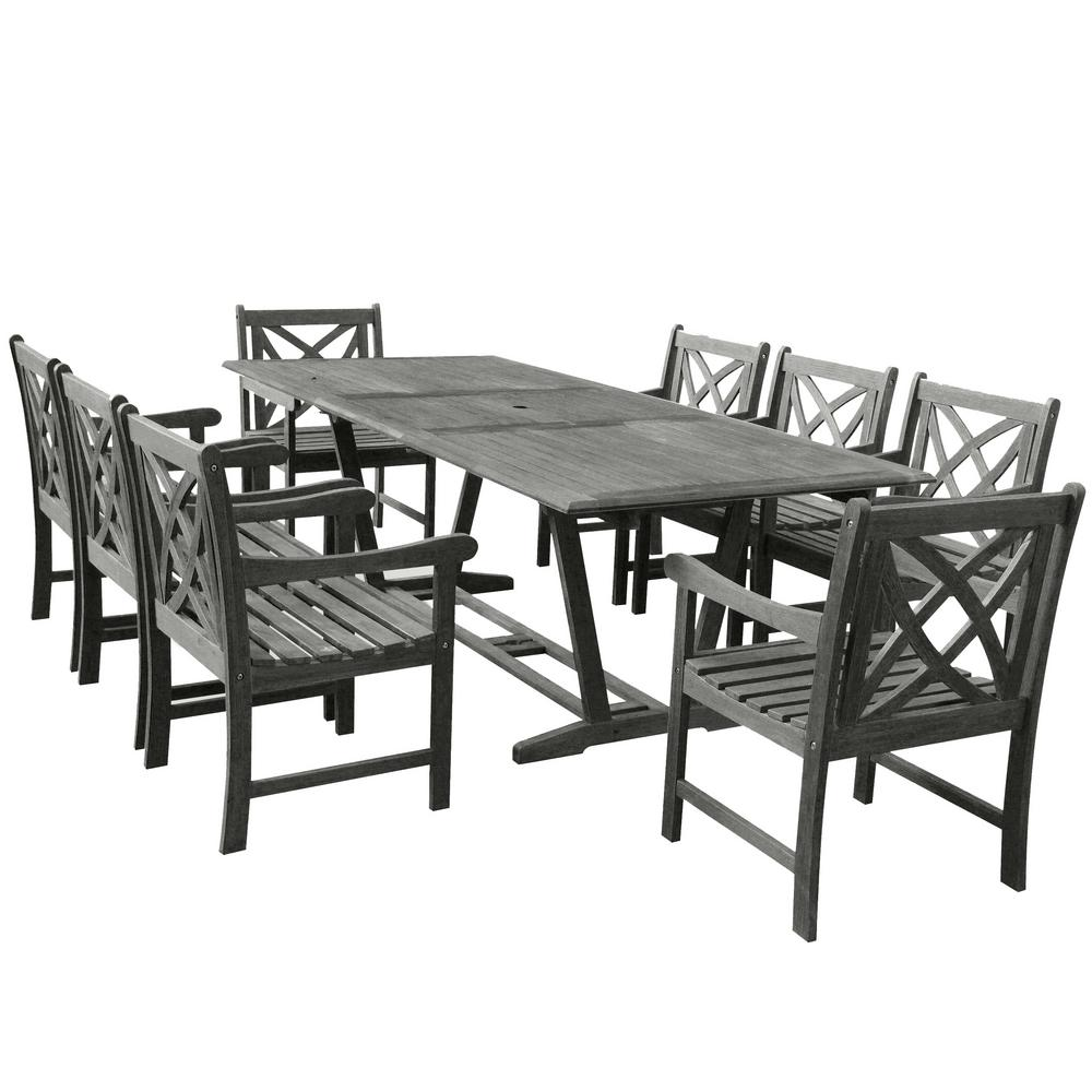 Renaissance 9-Piece Rectangle Patio Dining Set