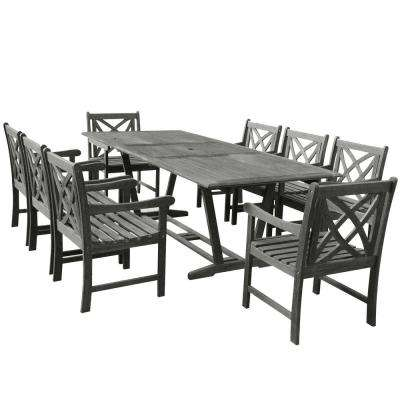 Vifah Renaissance 9 Piece Rectangle Patio Dining Set V1294set12 The Home Depot