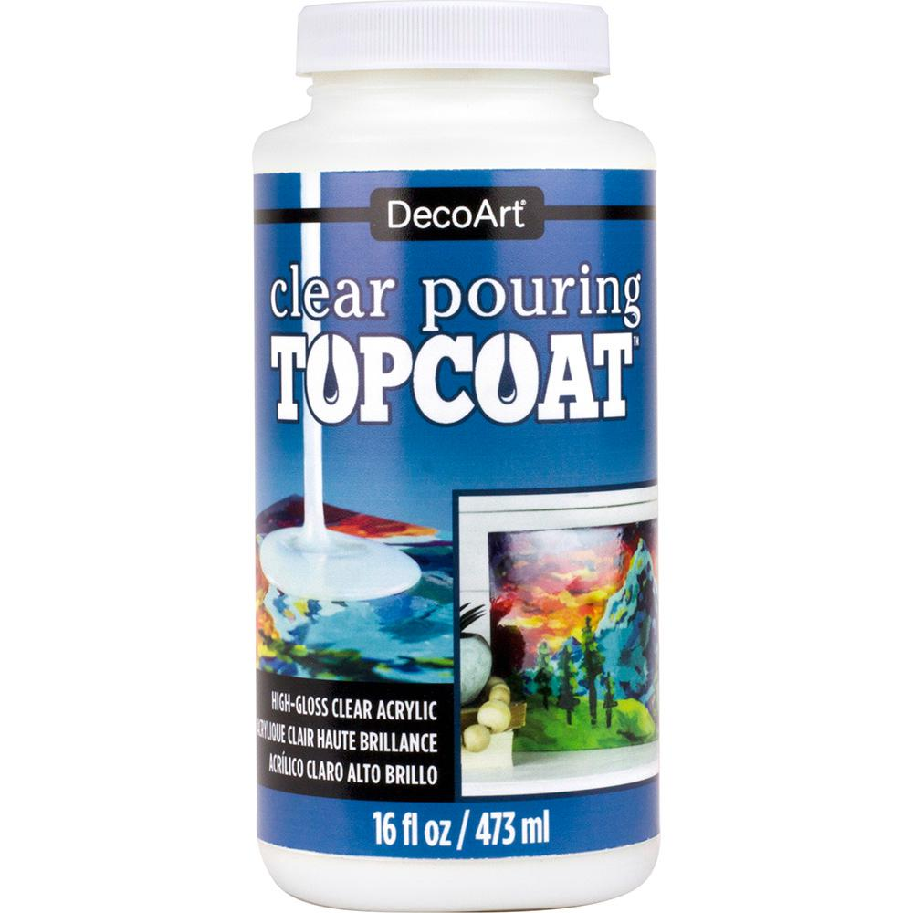 Decoart 16 oz. Clear Pouring Top Coat, Clear Pouring Topcoat