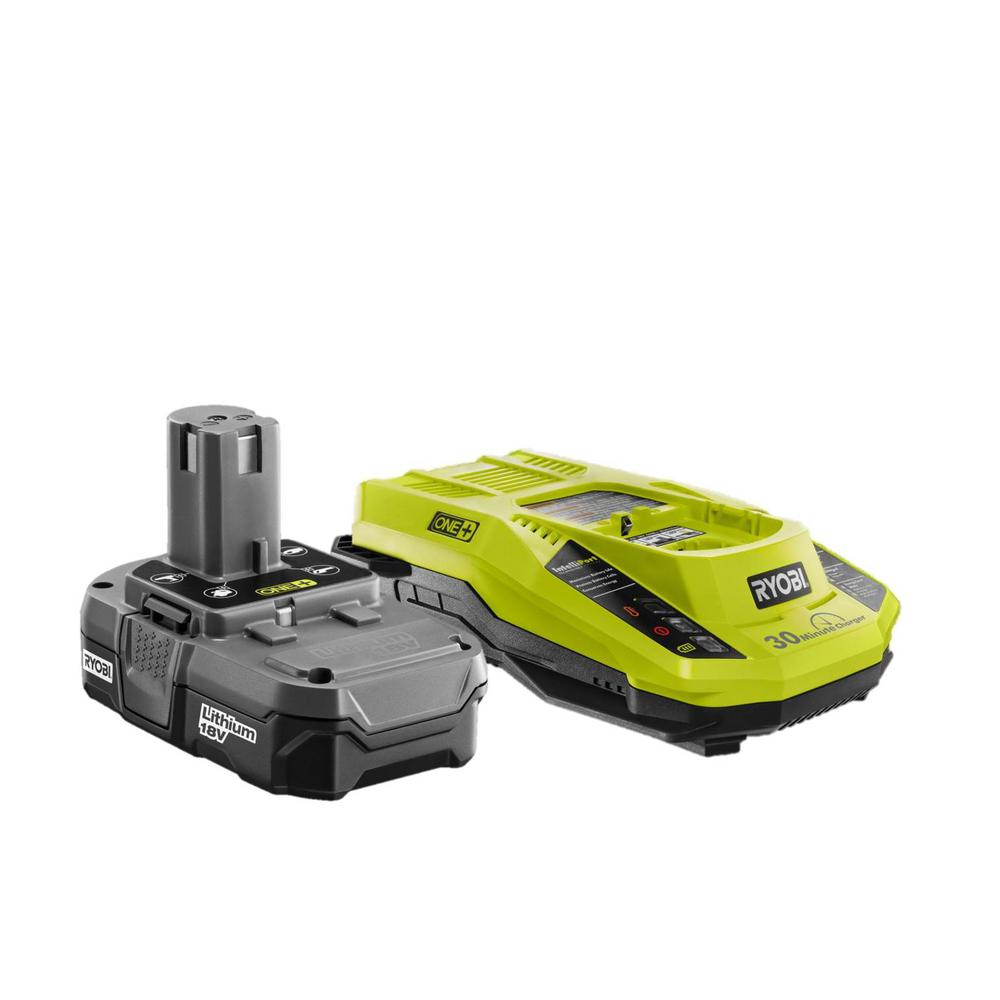 RYOBI 18-Volt ONE+ Lithium-Ion Kit with One 1.3 Ah Battery Pack and 1 Dual Chemistry IntelliPort Charger