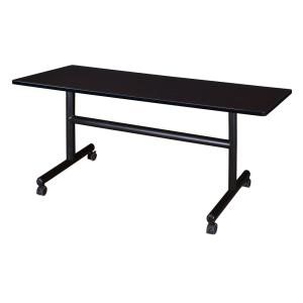 Kobe Mocha Walnut 60 in. W x 30 in. D Flip Top Mobile Training Table
