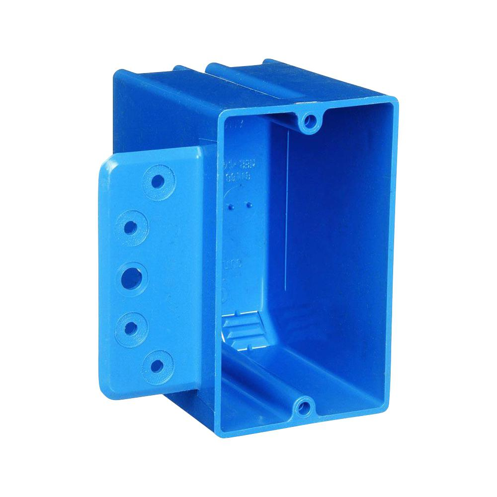 Carlon 1-Gang 18 cu. in. Blue PVC New Work Electrical Switch and Outlet Box with Bracket (Case of 50)