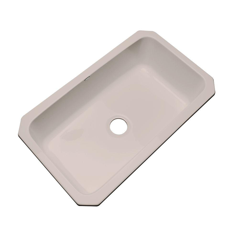 Thermocast Manhattan Undermount Acrylic 33 in. Single Bowl Kitchen Sink in Fawn Beige