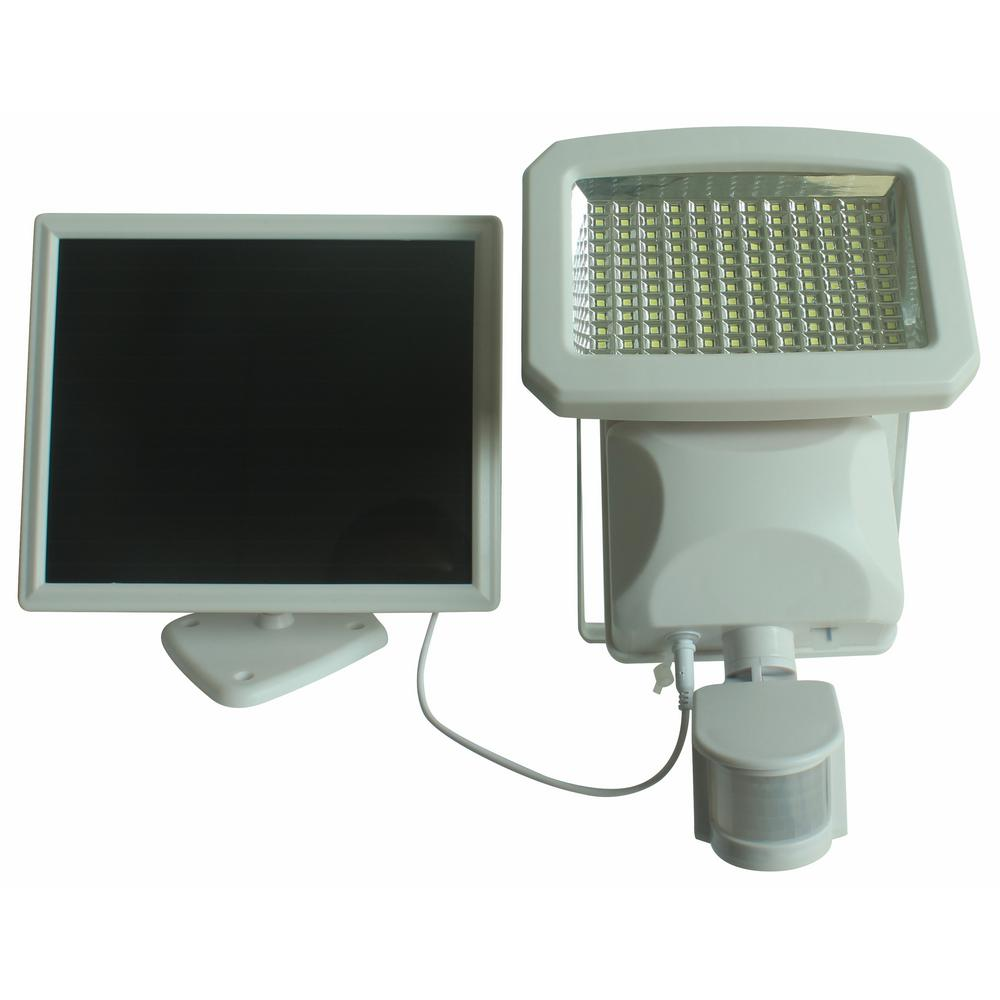 Nature Outdoor 144 Led Solar Ed Motion Activated Security Light In White