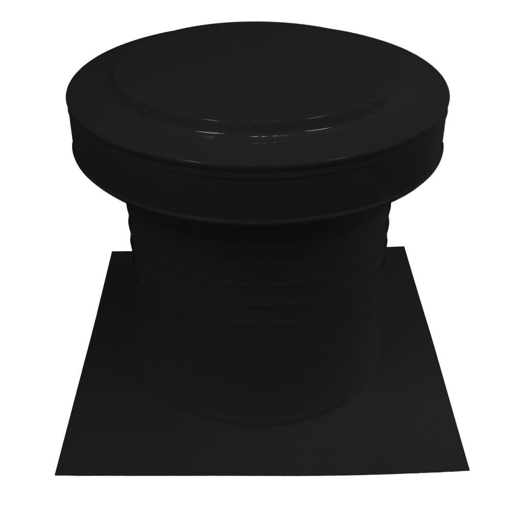 12 in. Dia Aluminum Static Keepa Vent in Black