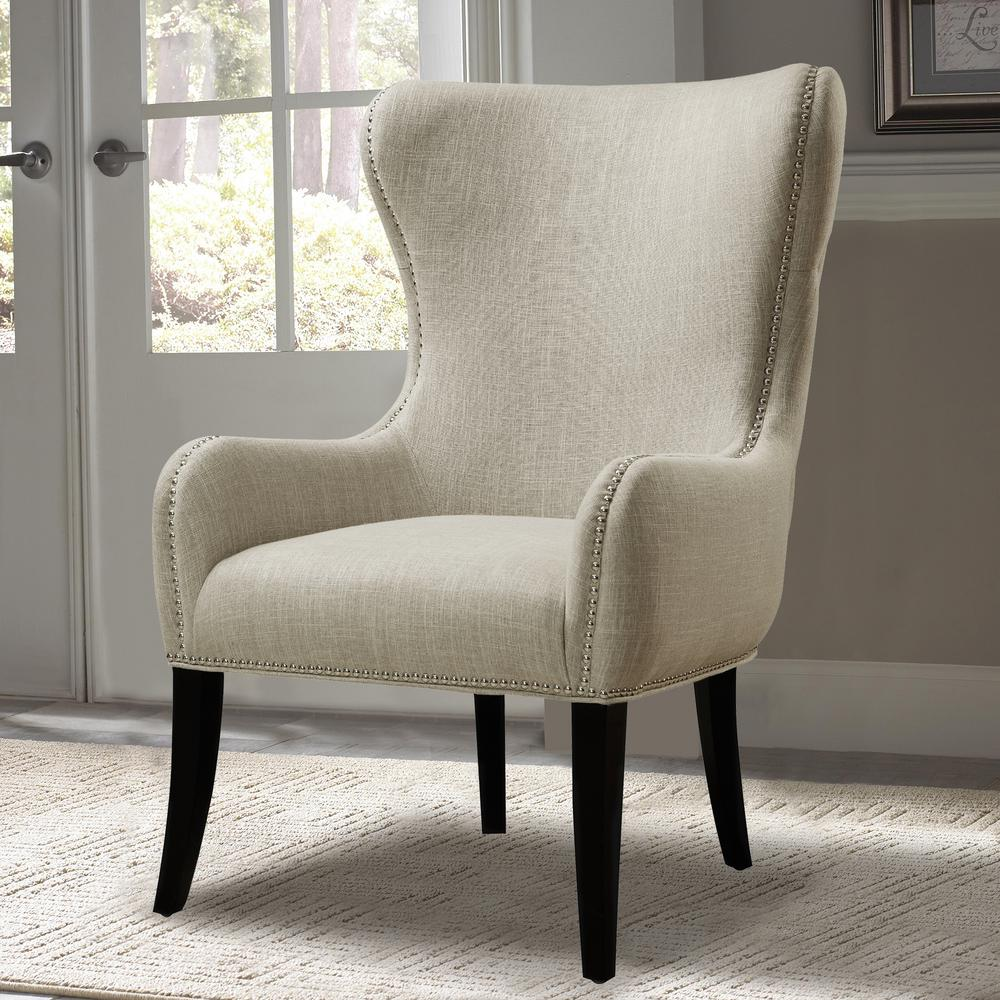 Home Accents Furniture: PRI Seraphine Mink Fabric Arm Chair-DS-2527-900-382