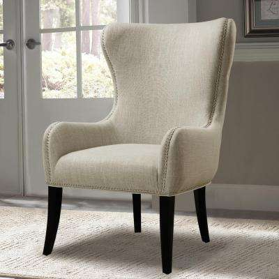 Seraphine Mink Fabric Arm Chair