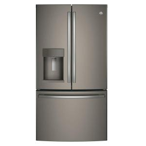 Click here to buy GE 36 inch W 22.2 cu. ft. French Door Refrigerator in Slate, Counter Depth and Fingerprint Resistant by GE.