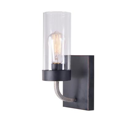 Towson 5 in. Bronze Sconce with Glass Shade