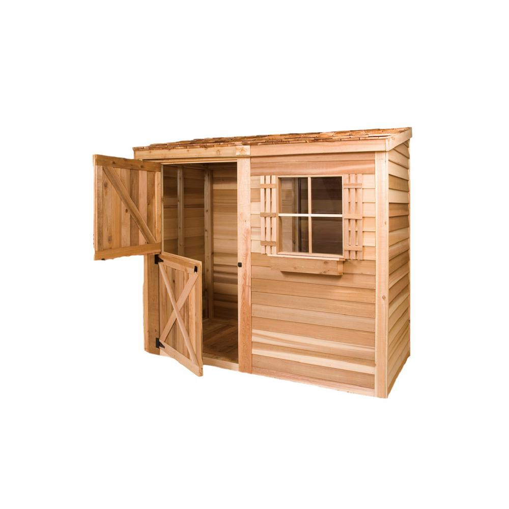 Cedarshed Bayside 8 ft. x 4 ft. Western Red Cedar Garden Shed