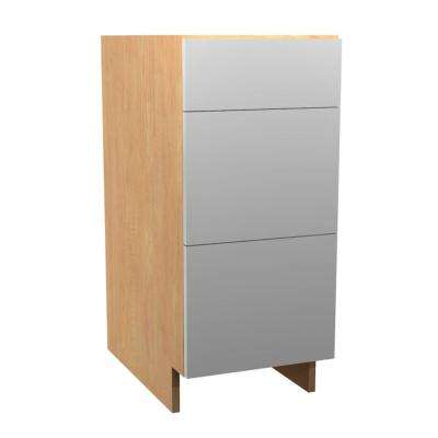 12x34.5x21 in. Anzio Vanity Base Drawer Cabinet with 3 Soft Close Drawer in Polar White