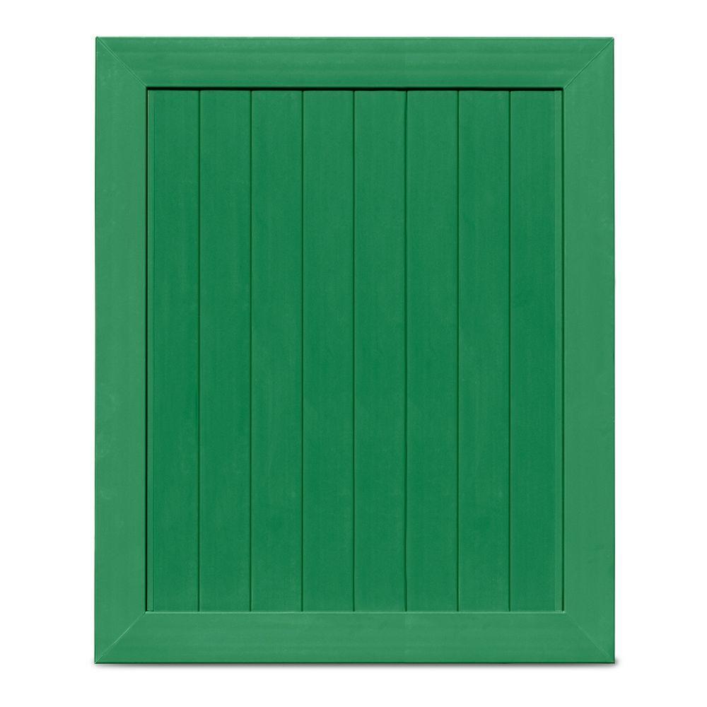 Veranda Pro Series 5 ft. W x 6 ft. H Green Vinyl Anaheim Privacy Vinyl Fence Gate