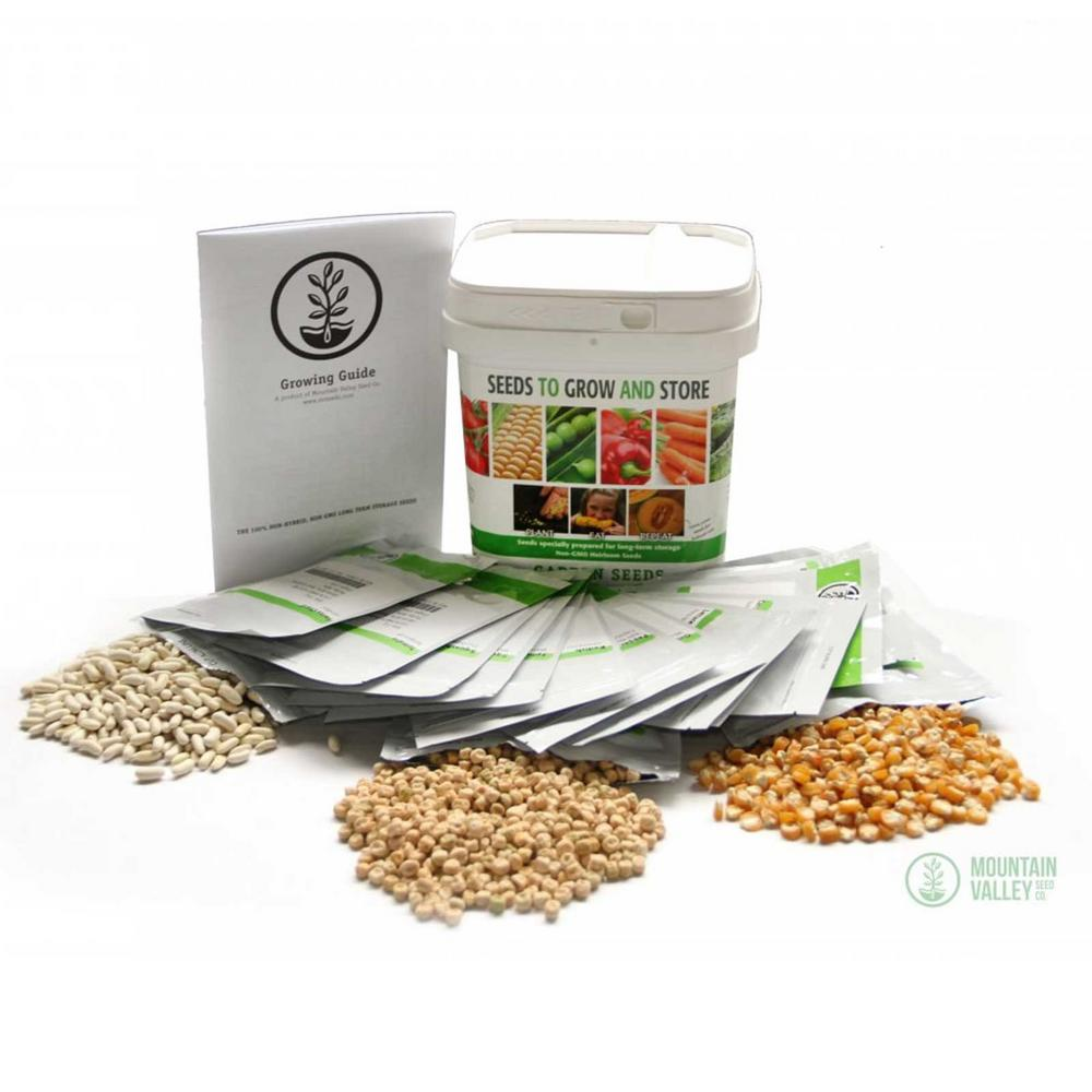 Mountain Valley Seed Company Grow and Store Emergency Vegetable Garden  Seeds, Over 22,000 Non-GMO Storage Gardening Seed Vault