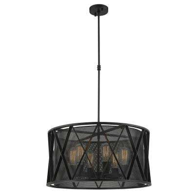 Nautilus 6-Light Matte Black Pendant