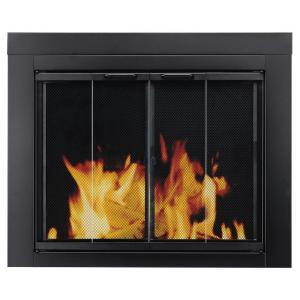 ascot small glass fireplace doors pleasant hearth