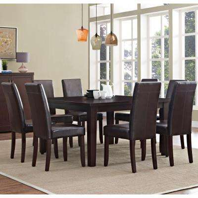 Acadian 9-Piece Tanners Brown Dining Set