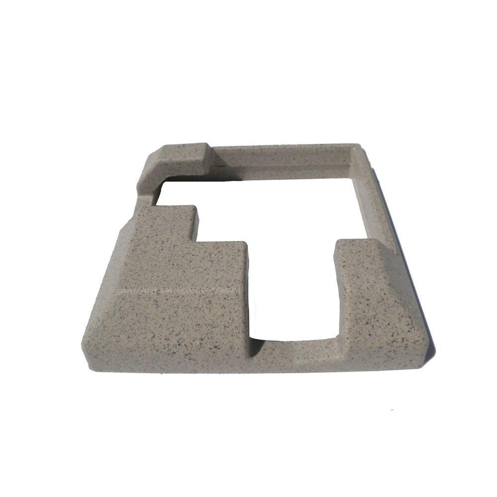 EcoStone 9 in. x 9 in. Composite Beige Corner Post Concrete Bracket Skirt