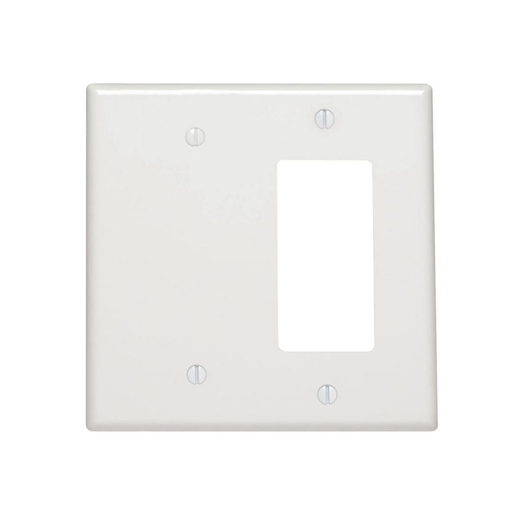 Leviton 2 Gang 1 Decora 1 No Device Blank Midway Size