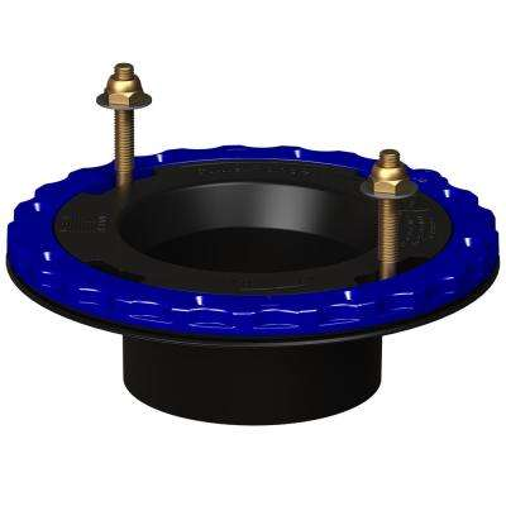 4 in. x 3 in. Glue-in Floor Protecting ABS Toilet Flange in Black
