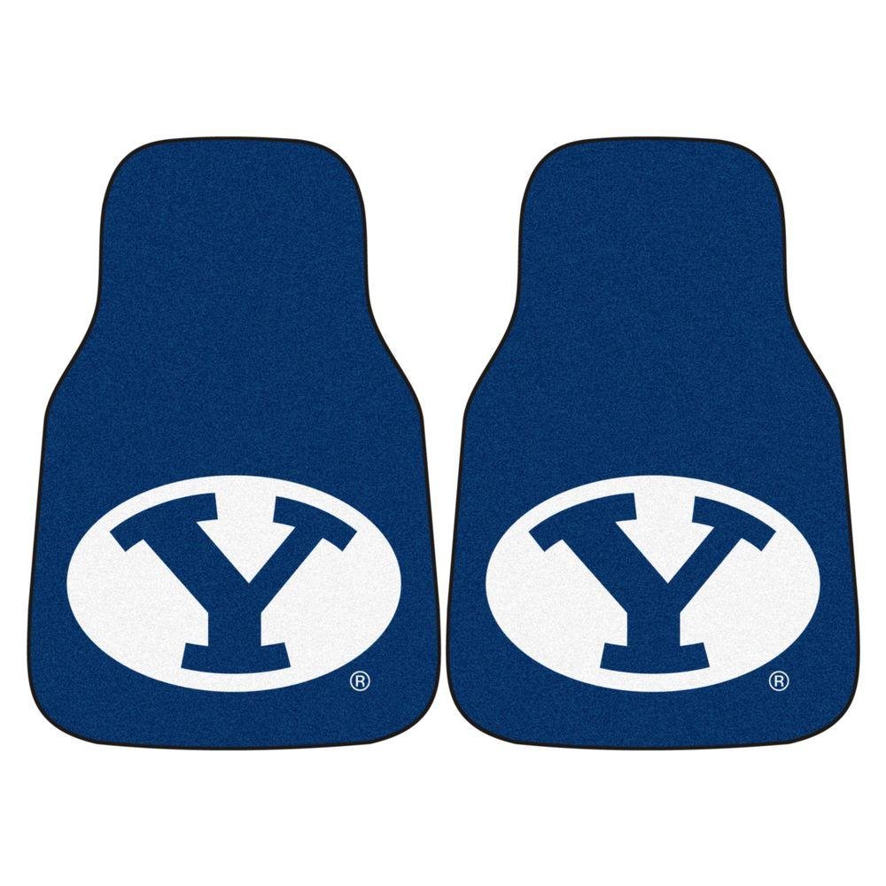 Brigham Young University 18 in. x 27 in. 2-Piece Carpeted Car