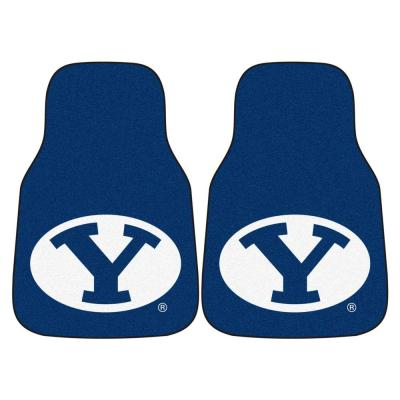 Brigham Young University 18 in. x 27 in. 2-Piece Carpeted Car Mat Set