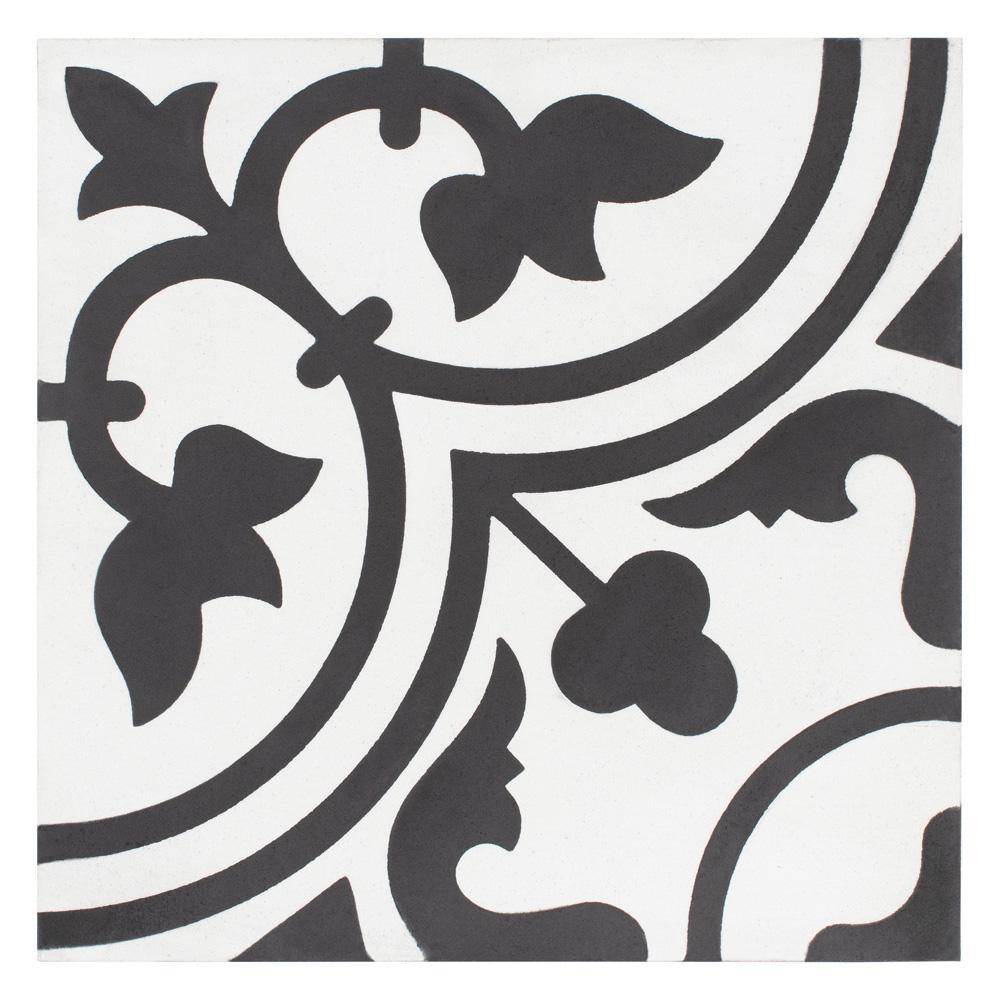 Cemento Arte Snowcap Encaustic 7-7/8 in. x 7-7/8 in. Cement Handmade Floor and Wall Tile
