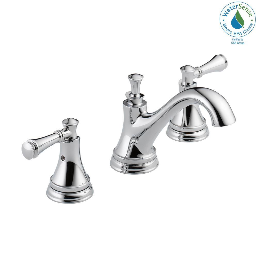 Delta Bathroom Faucets.Delta Silverton 8 In Widespread 2 Handle Bathroom Faucet In