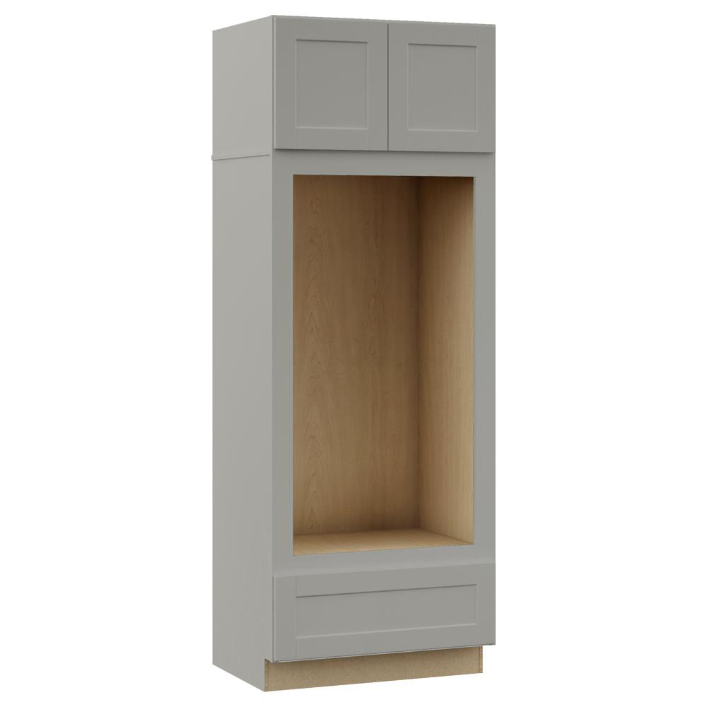 Hampton Bay Shaker Assembled 33 x 90 x 24 in. Pantry ...