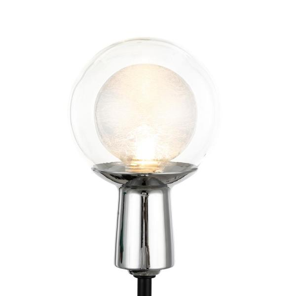Light Society Cellini 5 In Black Wall Sconce With Clear Glass Shades Ls W417 Bk Cl The Home Depot