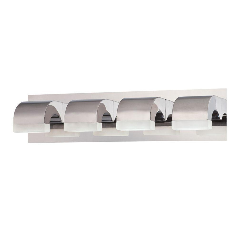 Eurofase Newport Collection 4-Light Chrome LED Bath Bar ...