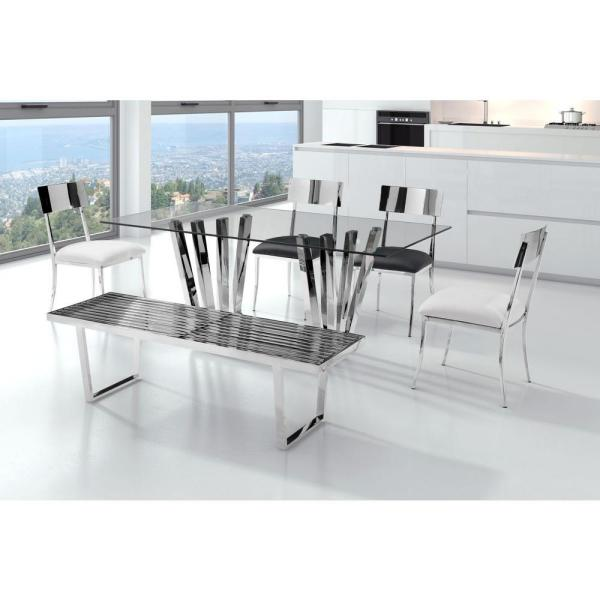 ZUO Niles Stainless Steel Bench