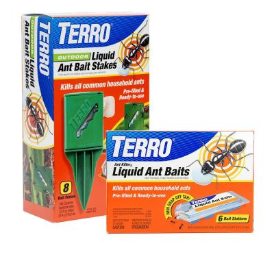 Liquid Ant Killer Bait Indoor Stations and Outdoor Stakes