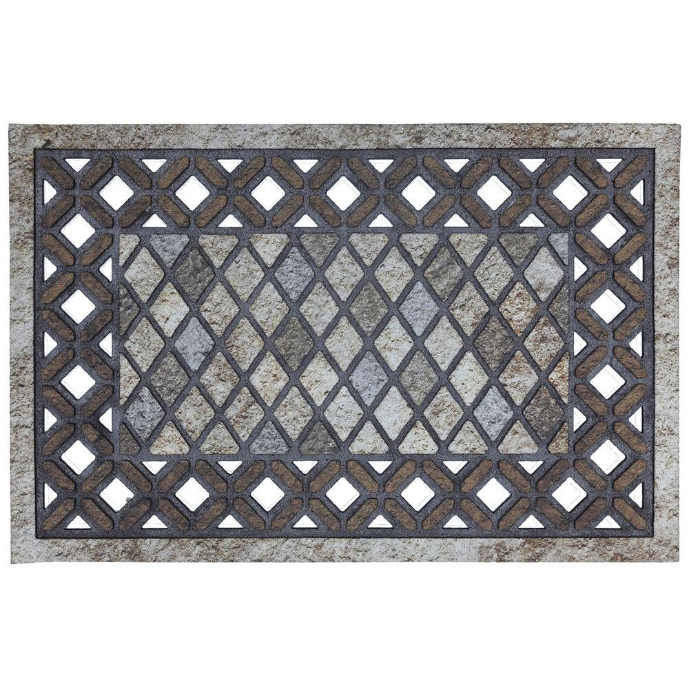 Mohawk Home Diamond Mason 23 in. x 35 in. Recycled Rubber Door Mat