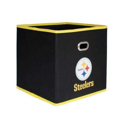 Pittsburgh Steelers NFL Store-Its 10-1/2 in. W x 10-1/2 in. H x 11 in. D Black Fabric Drawer