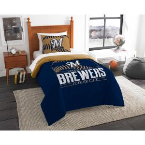 Brewers 3-Piece Multi Color GrandSlam Twin Comforter Set by