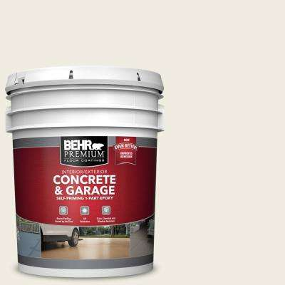5 gal. #12 Swiss Coffee Self-Priming 1-Part Epoxy Satin Interior/Exterior Concrete and Garage Floor Paint