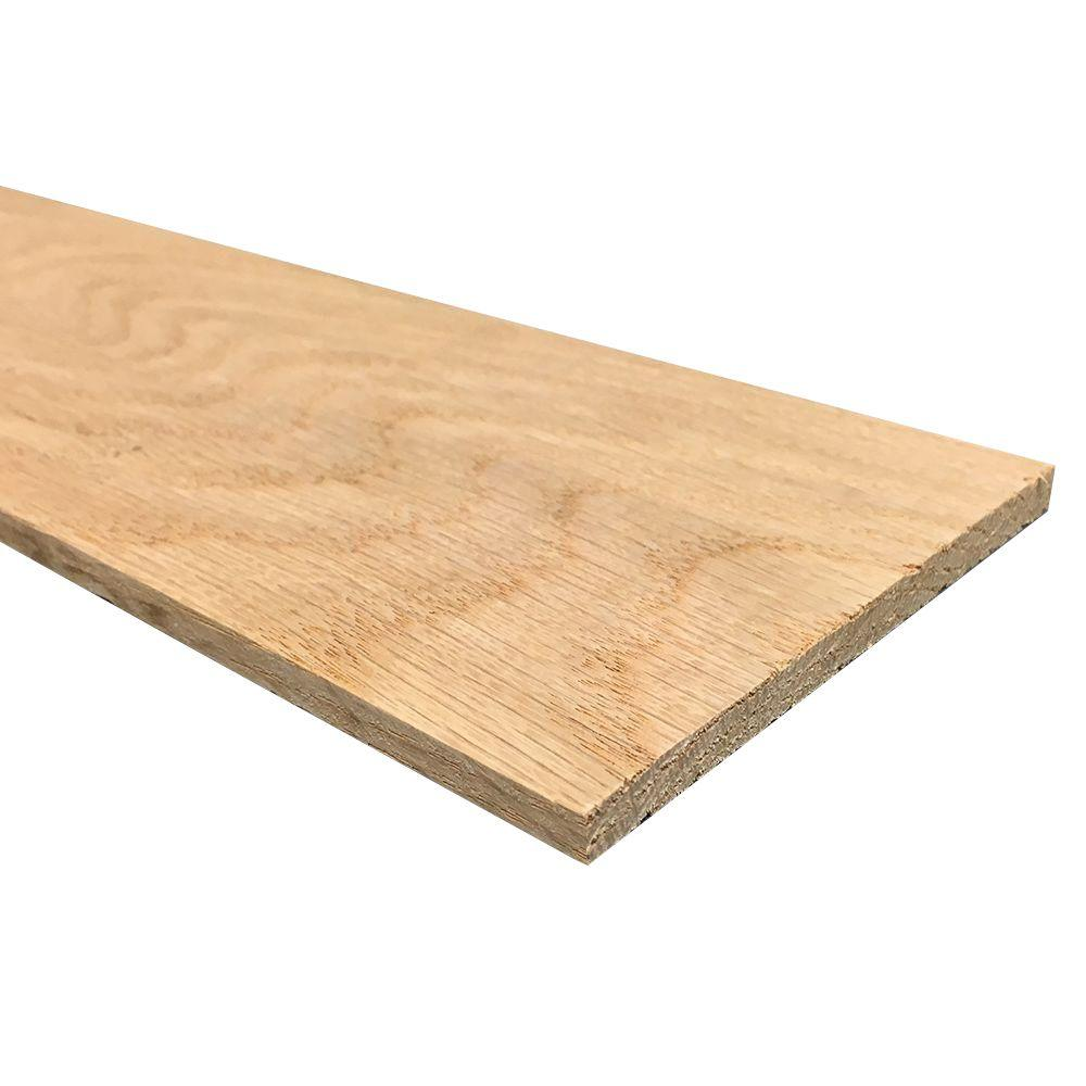 Weaber 1/4 in. x 4 in. x 3 ft. S4S Oak Board