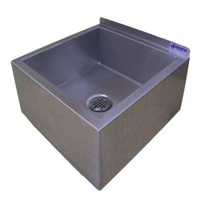 UM-Series 23x23 Stainless Steel Floor Mount Mop Sink